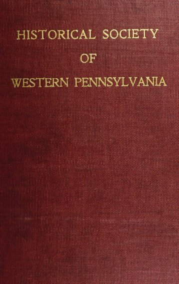 historical society of western pennsylvania - Clpdigital.org
