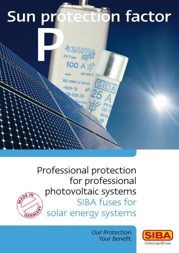 Sun protection factor - SIBA