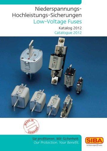 Niederspannungs- Hochleistungs-Sicherungen Low ... - SIBA - Fuses