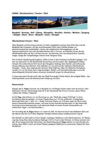 CHINA | Reisebausteine | Yunnan - Tibet
