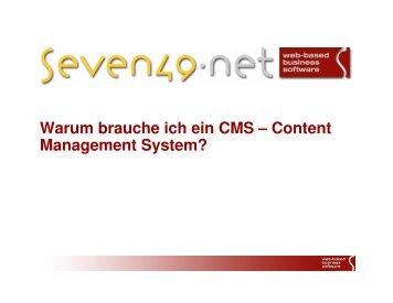 seven49_warum_ein_CMS.pdf - Seven49.net GmbH