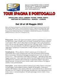35 tour spagna e portogallo - Santiniviaggieturismo.it