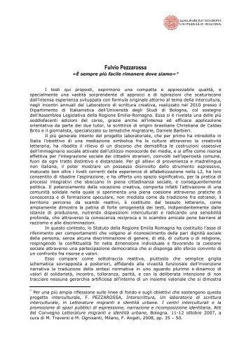 42. [PDF] Fulvio Pezzarossa - Assemblea Legislativa