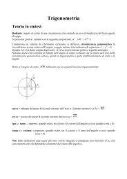 formule di trigonometria