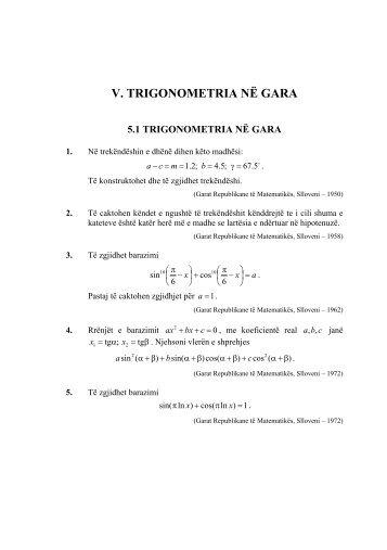 Trigonometria ne Gara - Armend Shabani