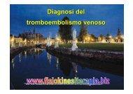 Diagnosi del tromboembolismo venoso - Fisiokinesiterapia.biz