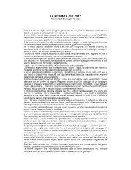 la ritirata del 1917 - ARCHIVIO STORICO della città di Concorezzo