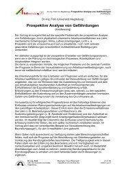 Prospektive Analyse von Gefährdungen - Sidi Blume