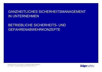 ganzheitliches sicherheitsmanagement - Arbeitsschutztag in ...