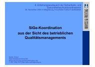 SiGe-Koordination aus der Sicht des betrieblichen - Sidi Blume