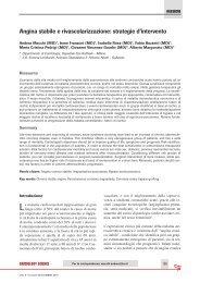 Angina stabile e rivascolarizzazione: strategie d'intervento - sicoa