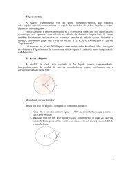 1 Trigonometria A palavra trigonometria vem do grego (tri+gonos+ ...