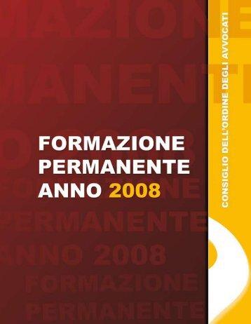 Formazione permanente 2008 - Consiglio dell'Ordine degli Avvocati ...