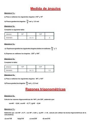 Ejercicios de trigonometria - Amolasmates