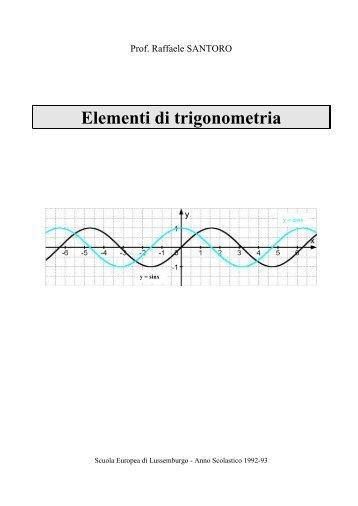 Elementi di trigonometria - Matematicamente.it