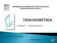 Trigonometría II - Universidad Autónoma del Estado de Hidalgo