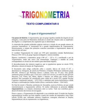 TEXTO COMPLEMENTAR 8 O que é trigonometria? - Kiron