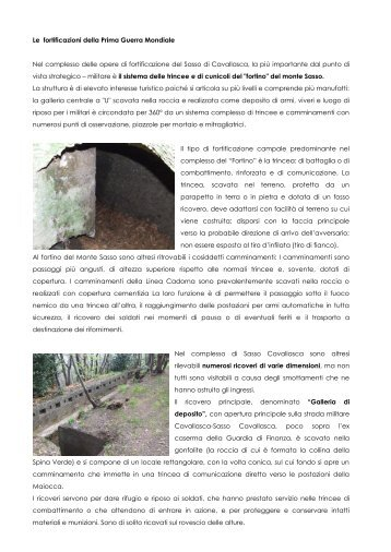 le fortificazioni della Grande guerra - Regione Lombardia