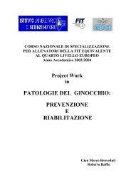 patologie del ginocchio - Federazione Italiana Tennis