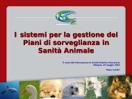 I sistemi per la gestione dei Piani di sorveglianza in Sanità Animale