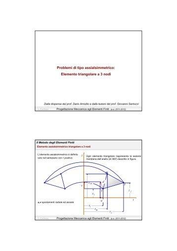 Elemento triangolare a 3 nodi - Dipartimento di Meccanica e ...