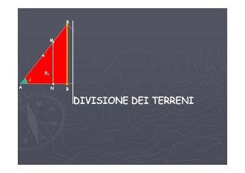 topografia 3 divisione dei terreni