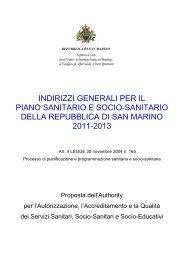 indirizzi generali per il piano sanitario e socio-sanitario della ...