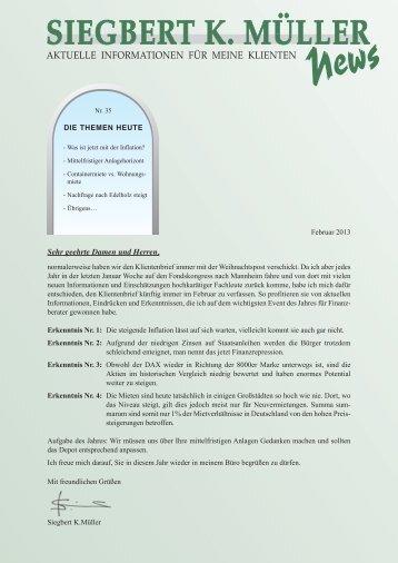 aktuelle Ausgabe Nr.35, 2013 - Siegbert K. Müller