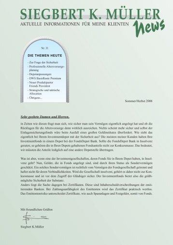 Ausgabe Nr.31, 2008 - Siegbert K. Müller