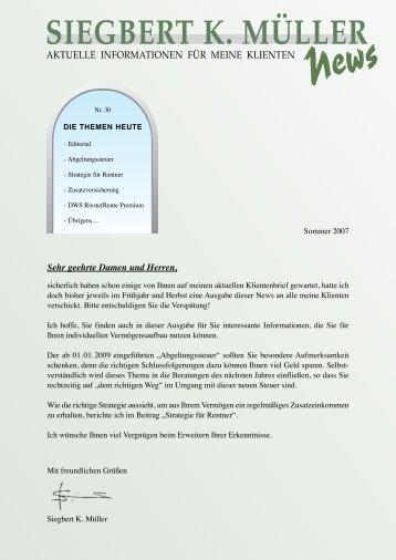 Ausgabe Nr.30, 2007 - Siegbert K. Müller
