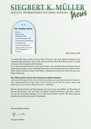 Ausgabe Nr.29, 2006 - Siegbert K. Müller