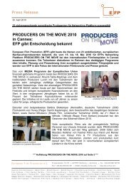 PRODUCERS ON THE MOVE 2010 in Cannes - European Film ...