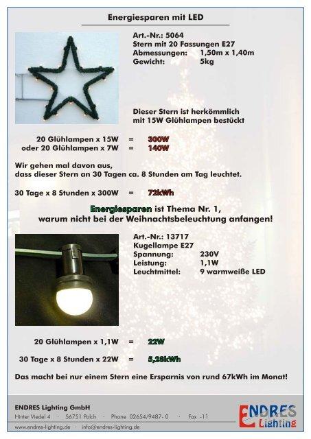 Leuchtmittel Weihnachtsbeleuchtung.Energiesparen Mit Led Endres Lighting Gmbh
