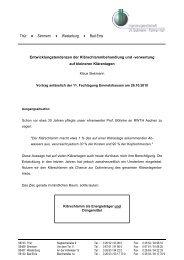 Vortrag anlässlich der 11. DWA Fachtagung, Emmelshausen