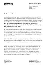 Presse-Information - Siemens Schweiz AG