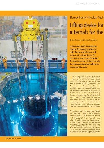 Lifting Device for NPP Brokdorf - Siempelkamp