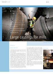 Large castings for mills - Siempelkamp