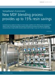 New MDF blending process provides up to 15 ... - Siempelkamp