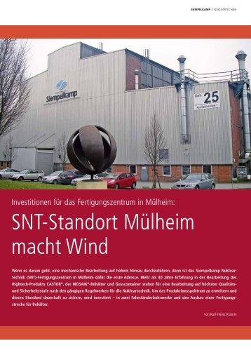 SNT-Standort Mülheim macht Wind - Siempelkamp