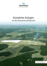Komplette Anlagen für die Holzwerkstoffindustrie - Siempelkamp