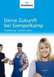 Auszubildenden-Broschüre - Deine Zukunft bei Siempelkamp