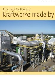 Erste Klasse für Biomasse: Kraftwerke made by Siempelkamp