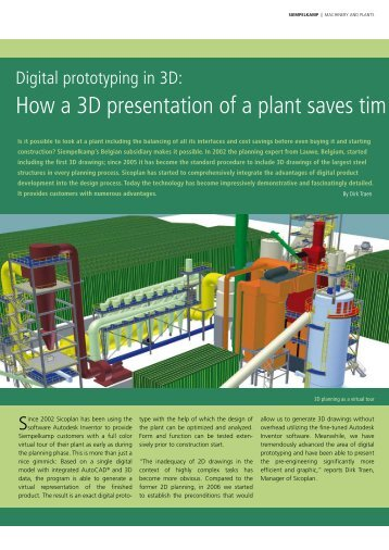 How a 3D presentation of a plant saves tim e and ... - Siempelkamp