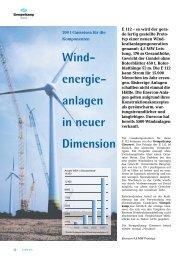 Wind- energie- anlagen in neuer Dimension - Siempelkamp