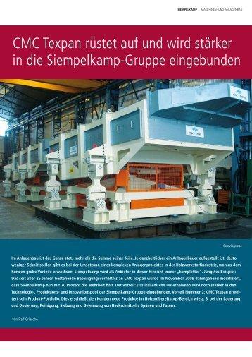 CMC Texpan rüstet auf und wird stärker in die Siempelkamp-Gruppe ...