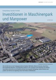 Investitionen in Maschinenpark und Manpower - Siempelkamp