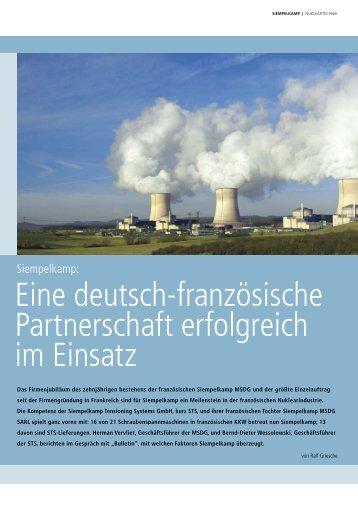 Eine deutsch-französische Partnerschaft erfolgreich ... - Siempelkamp