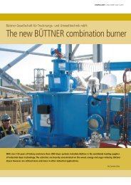 The new BÜTTNER combination burner type BCB - Siempelkamp