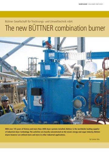 The new BÜTTNER combination burner type BCB - Siempelkamp