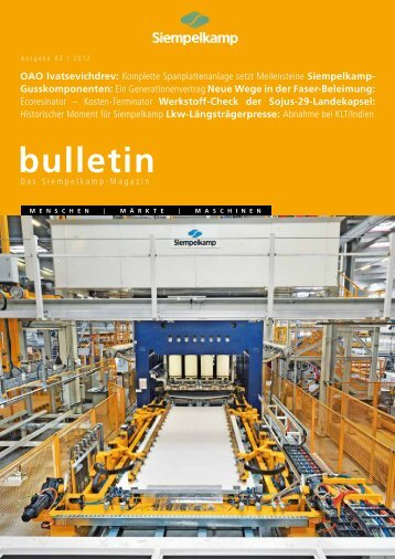 Bulletin 2/ 2012 - Siempelkamp